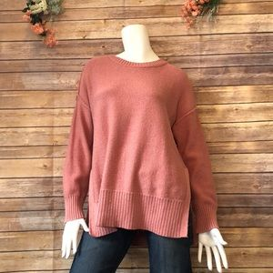 Aerie crewneck knit sweater peach size Extra Small